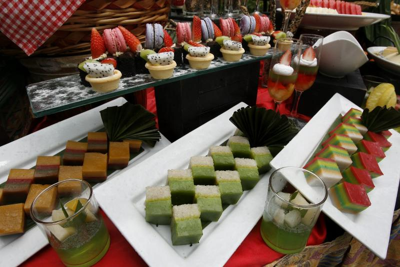 An array of kuih (traditional sweets) on the Ramadan buffet menu at The Royale Bintang Resort & Spa Seremban.
