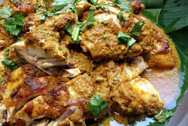 Ayam Percik Iftar that's roasted with selected spices.