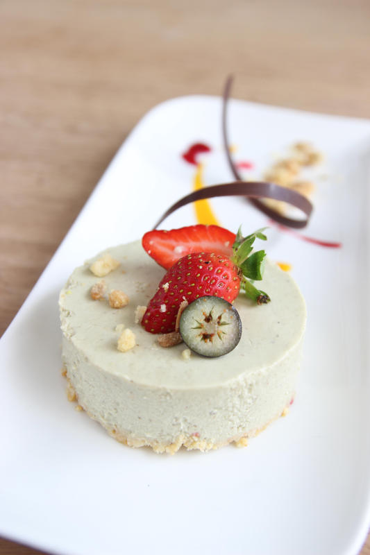 Diners should try the chilled avocado cheese cake for dessert.