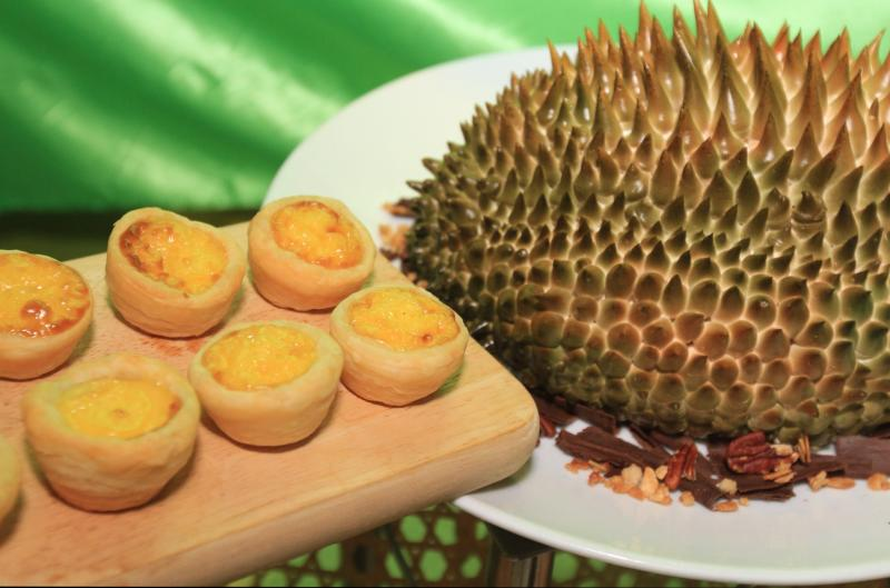 Durian lovers, make sure not to miss out on the durian egg tarts.