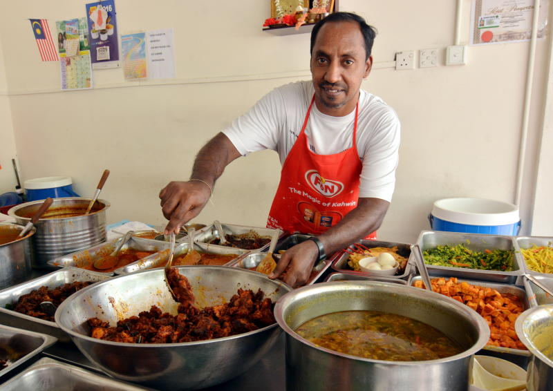 Ganesan Selvam is a familiar face at Selvam's Corner as he continues his father's business in Brickfields.