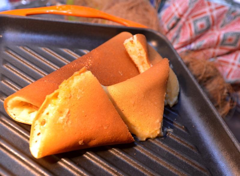 InterContinental's executive pastry chef Chan Eng Hua's nostalgic fluffy, crispy edged apam balik.