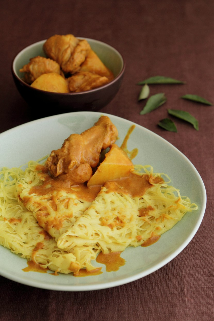 Roti Jala and Chicken Curry