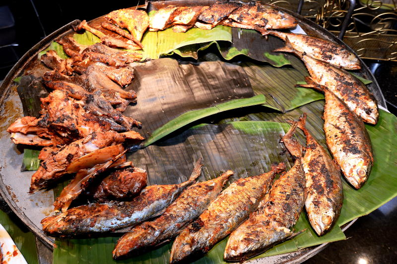 Sample the various grilled seafood with their special dipping sauce.