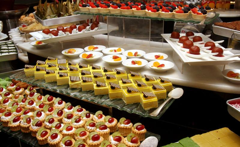 The buffet also offers an assortment of local and international desserts.