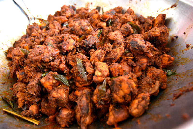 The chicken varuvel is a hot seller at Selvam's Corner.