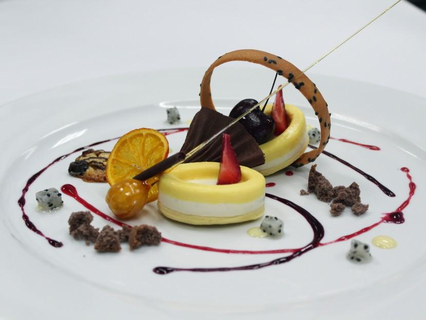 3 layer Bavarian cake