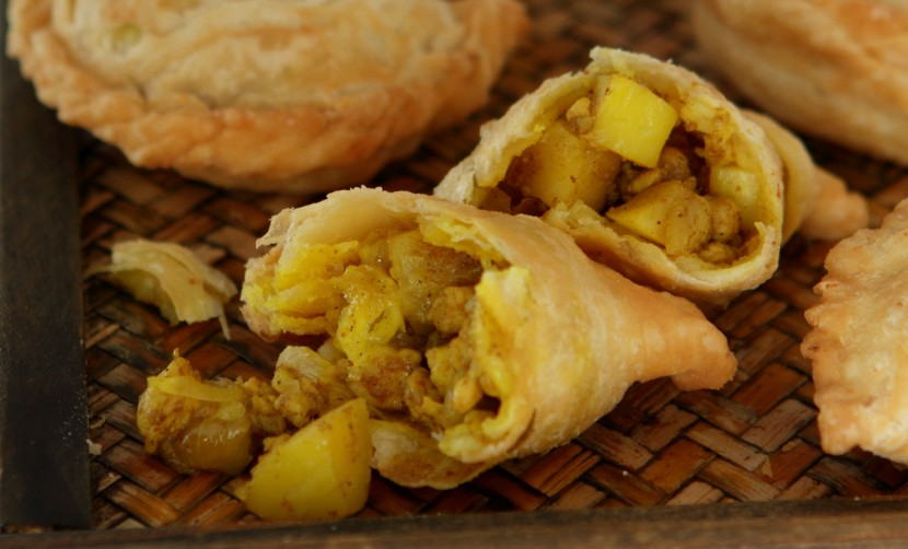 Chicken and Durian Curry Puffs.