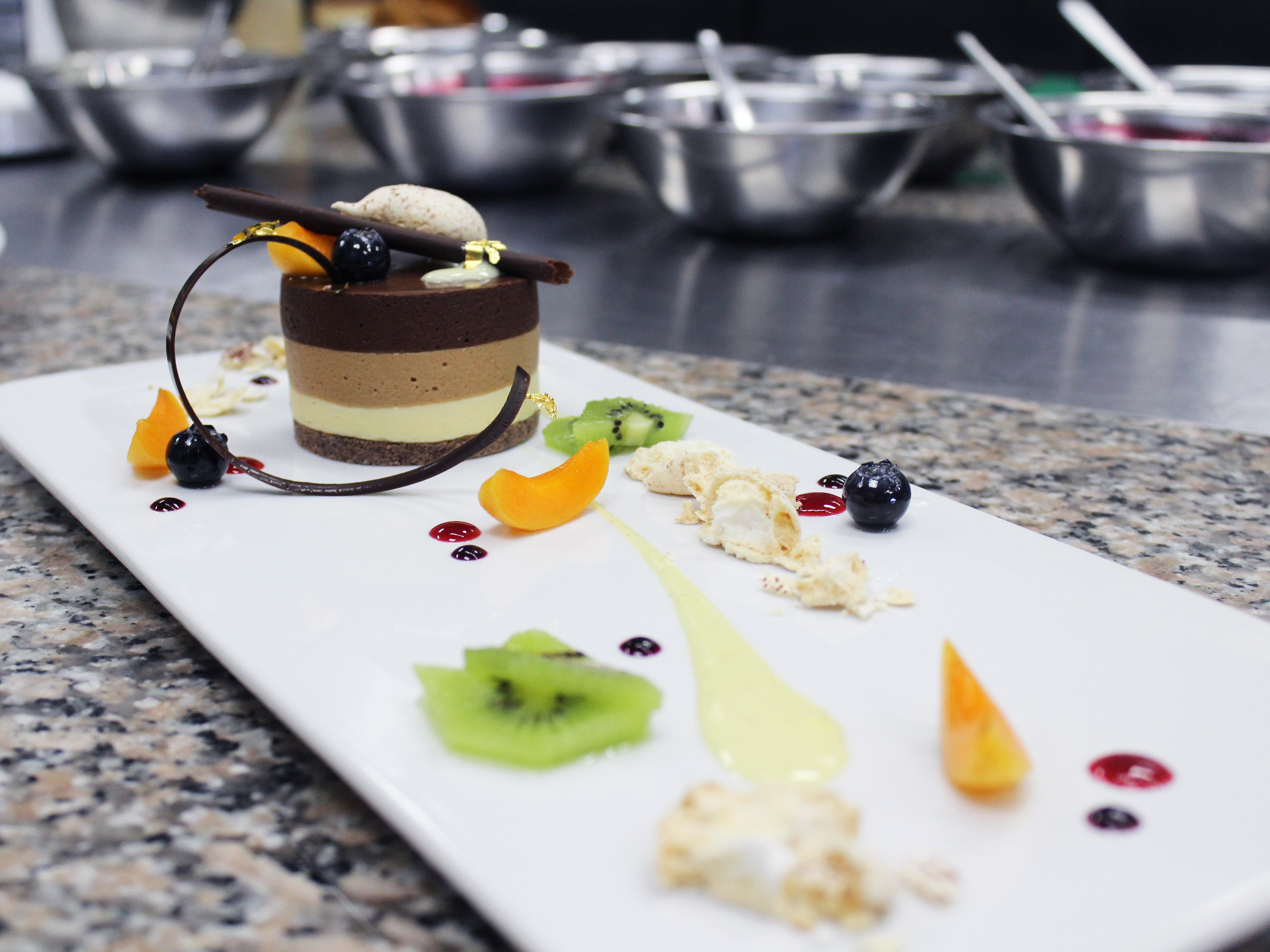 Triple Chocolate Mousse Cake Recipe - Bruno Albouze - THE ...