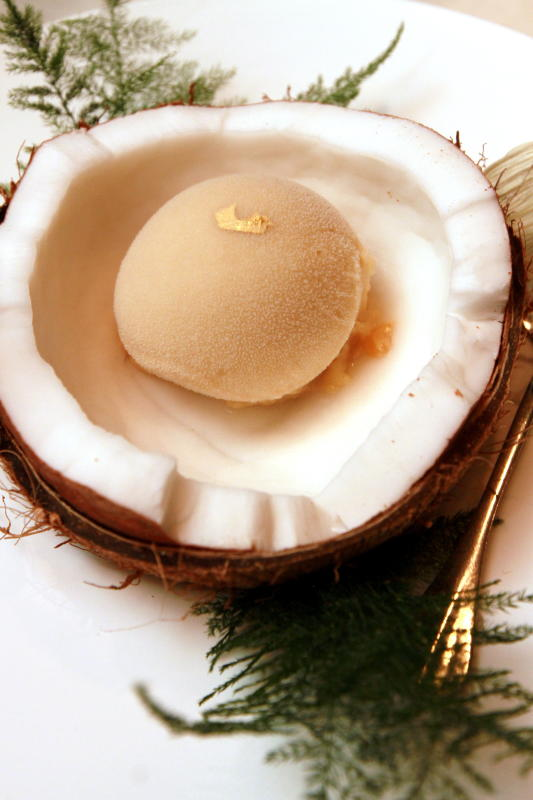 Make sure to get the Sapodilla Sorbet to cleanse your palate before the next course.