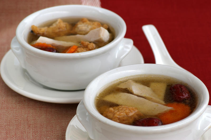 Peppery vegetarian pig's tripe soup - Cover