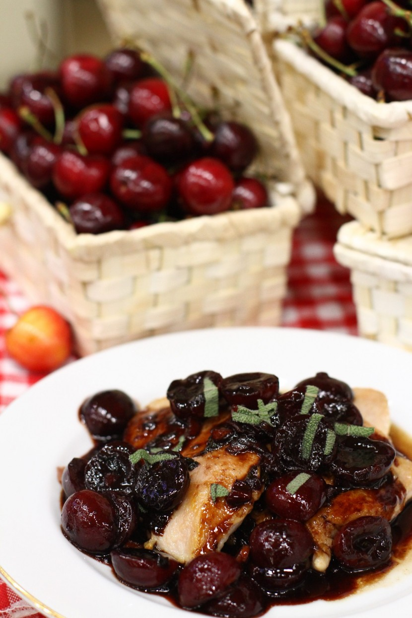 Seared Chicken Breast with Northwest Cherry Balsamic Sauce