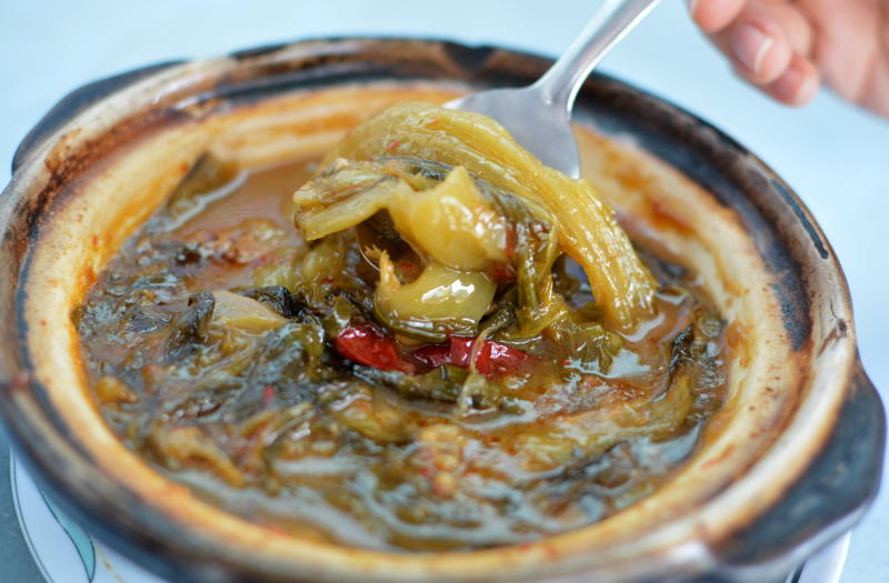 The Claypot Asam Mustard (chai boey) hit all the right notes and is best enjoyed with rice.