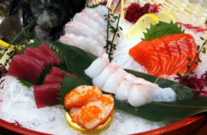 Assorted Sashimi - Ikejime Grouper and Red Snapper.
