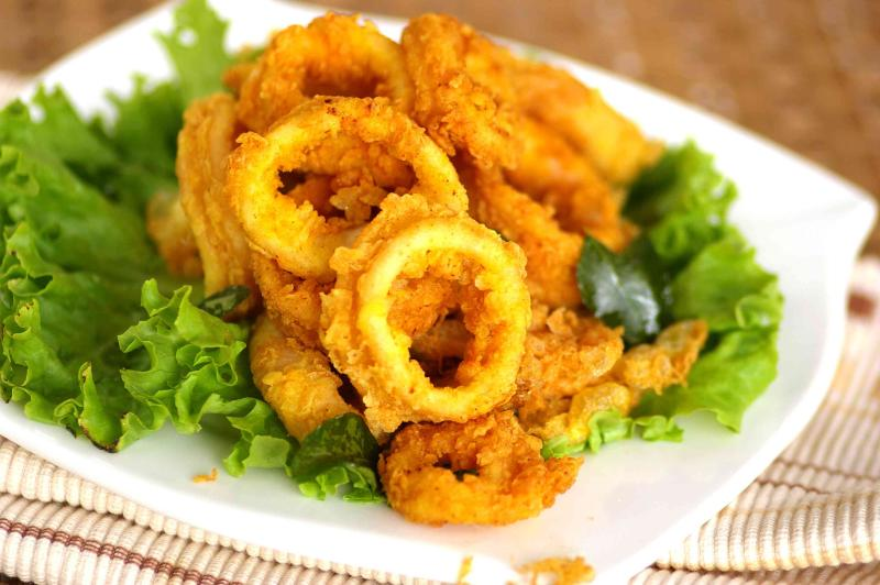 Crispy Squid Fritters.