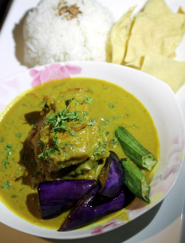 Fish of the Flame is a bowl of soft smooth fish fillets braised with traditional Kerala spices set into a creamy base gravy.