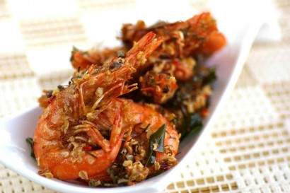 Fragrant Lemongrass Prawns.