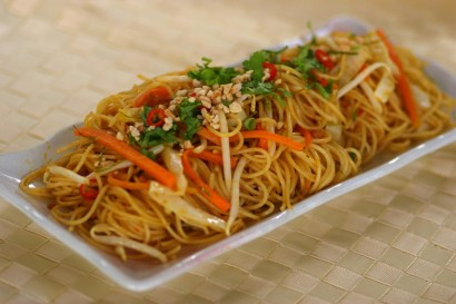 Fried Tom Yam Spaghetti.