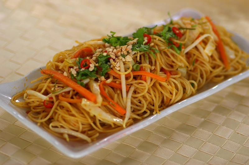 Fried Tom Yam Spaghetti
