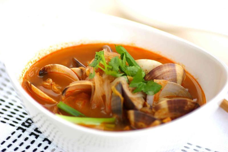 Kimchi Clam Soup