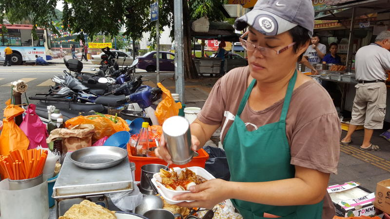 Maung Pui Har took over the business from her father and has been serving delicious yong tau foo to a hungry crowd.