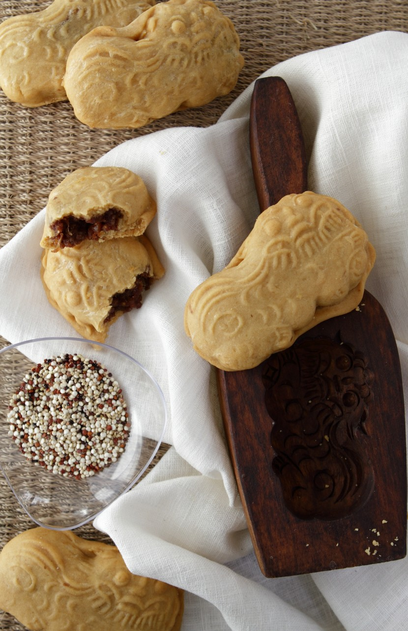 Millet, Orange and Red Bean Animal Biscuits.