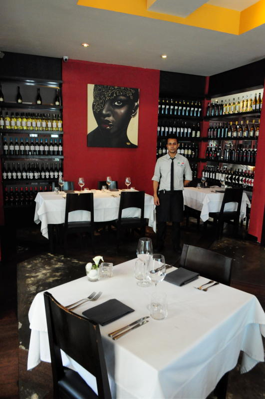Nerovivo offers a chic setting where diners can enjoy their meal.