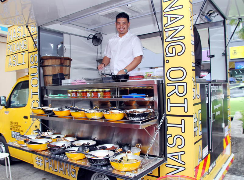 Padangs on Wheels has several food trucks stationed at different locations.