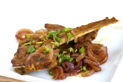Pan-fried Tom Yam Spicy Lamb Chops.
