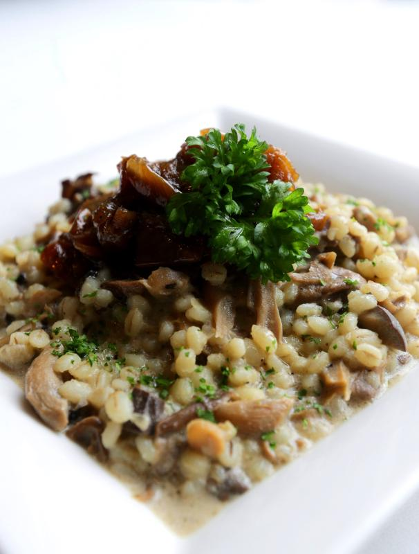 Rather than using risotto rice, the Mushroom Barley Risotto uses barley, thus giving it a unique taste and texture.
