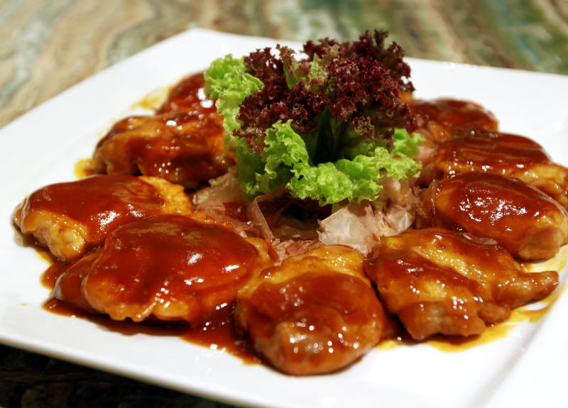 The Pan Fried Chicken Topped with Salted Egg and Barbecue Sauce is a rare find.