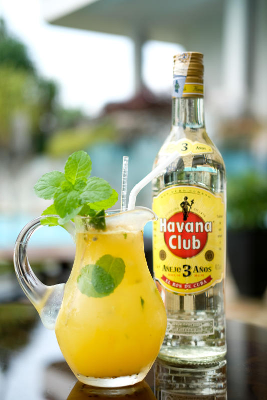 The Passion Fruit Mojito is a refreshing drink on a hot day.