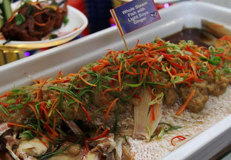 The Whole Steamed Fish with Light Soya and Ginger is sweet, fresh and has a bold ginger taste.