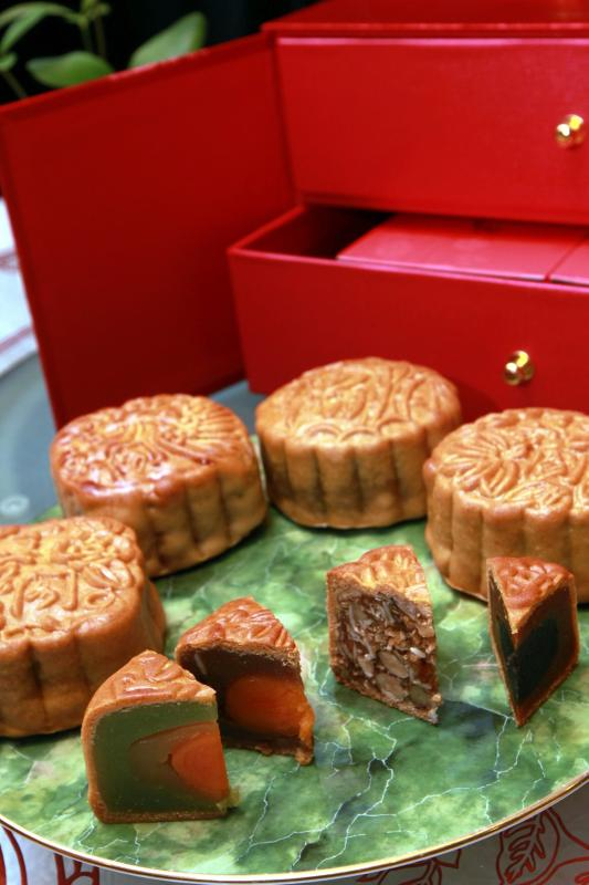 The baked mooncakes highlights traditional flavours with some small twists for added depth to its flavours.