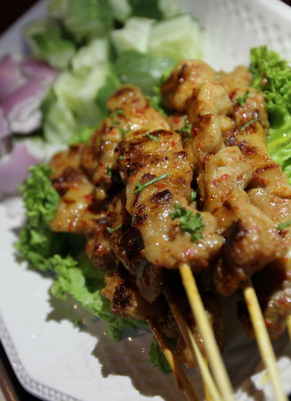 The chefs combined Malaysian and Balinese spices to make the Balinese Skewer where the meat is grilled and tender but isn't too spicy.