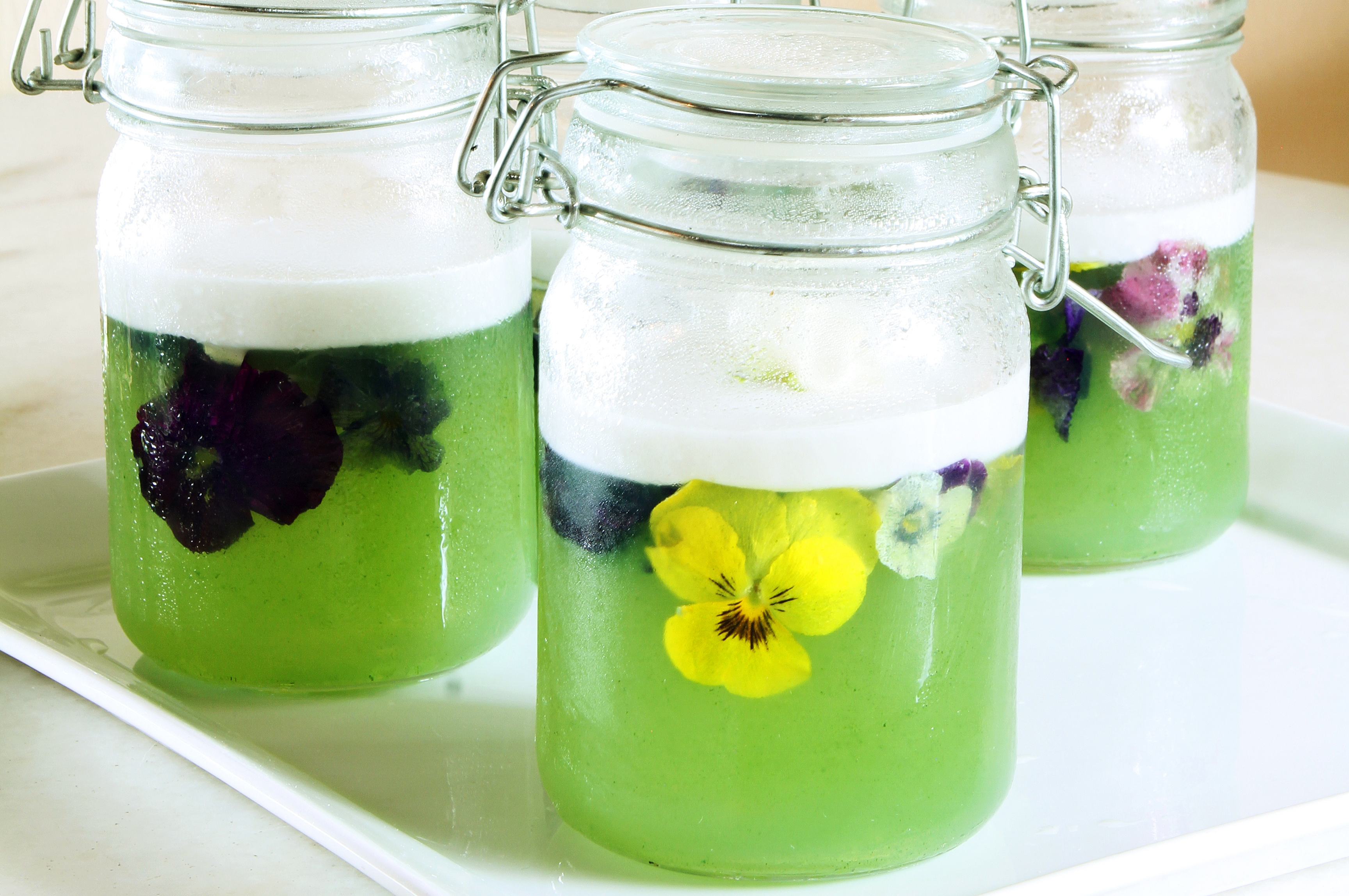 Japanese Jelly with Coconut Cream