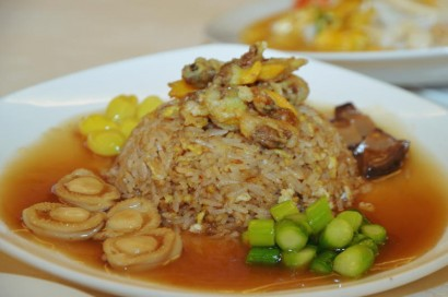 The Abalone Fried Rice is a rich, flavourful dish that's best enjoyed hot.
