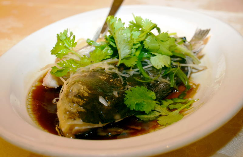 The Steamed Freshwater Fish may seem simple, but it's a tasty dish that should not be missed.