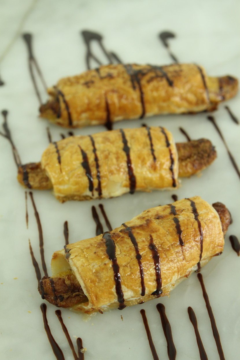 banana-and-chocolate-puffs