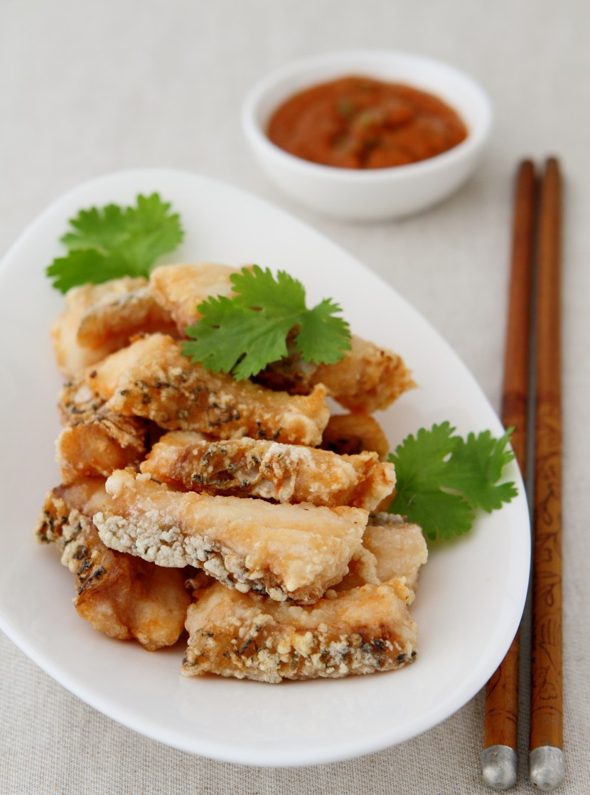 Fried Fish Fillet with Special Beanpaste Sauce.