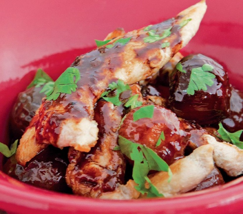 Sautéed Chicken with Chocolate Balsamic Sauce