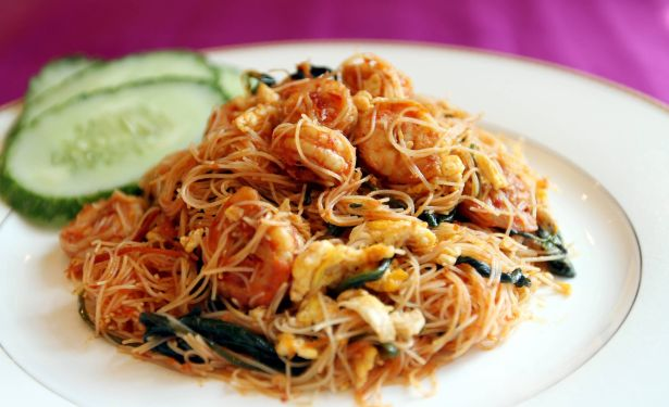 Fried Prawn Meehoon.