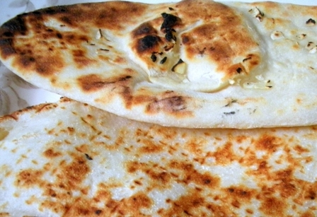 Homemade Garlic Naan.