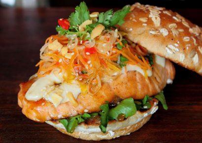 Abundance Salmon Burger