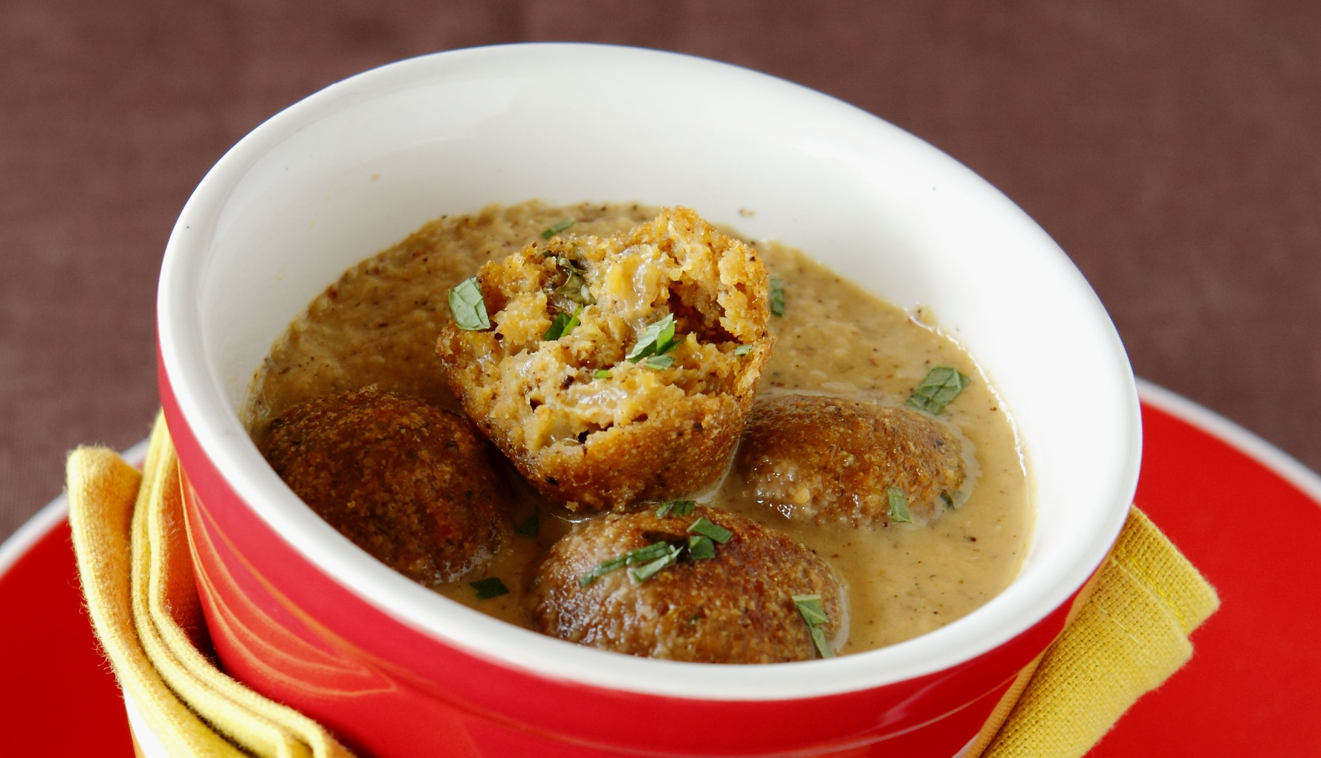 Plantain Koftas with Pineapple Curry