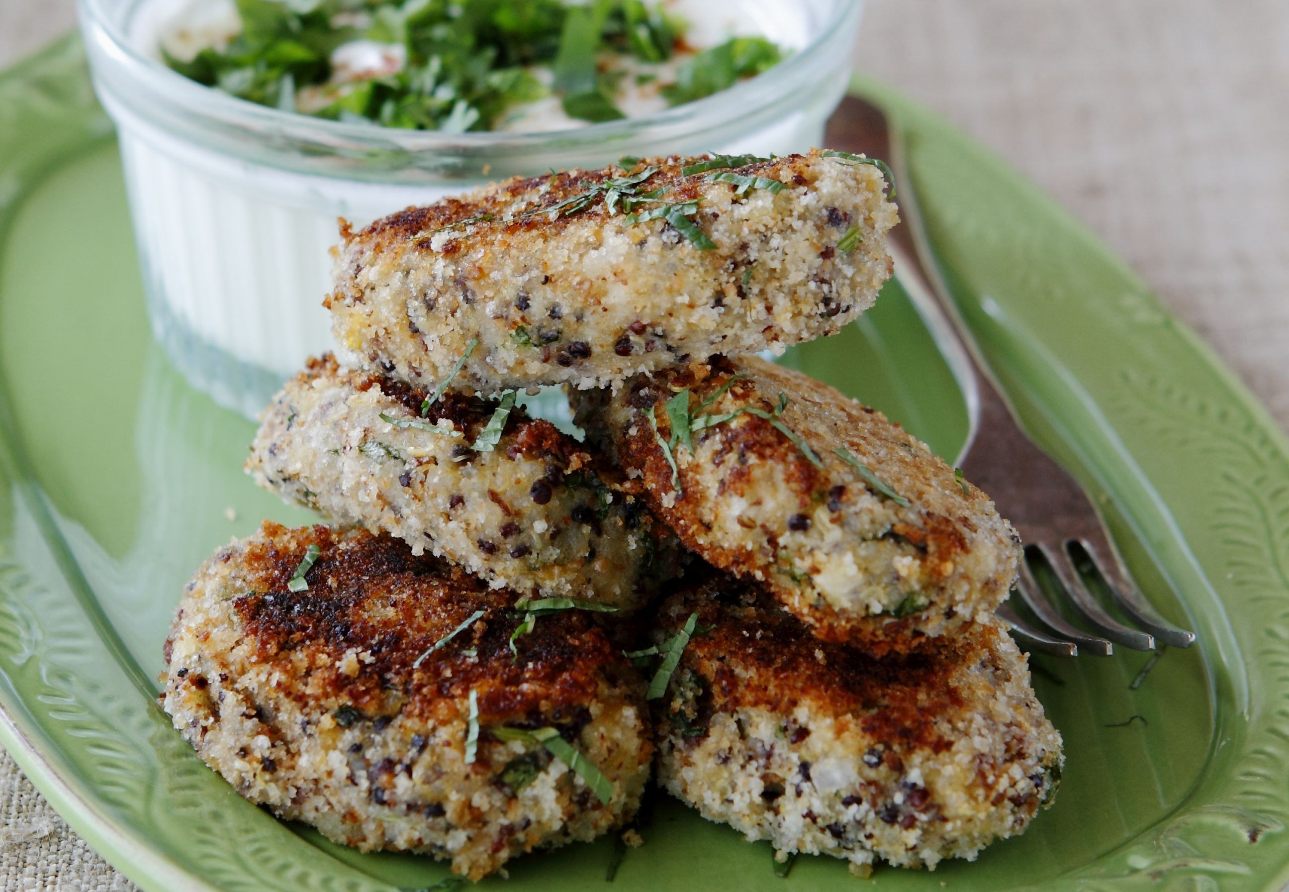 Quinoa and Potato Cakes 2.