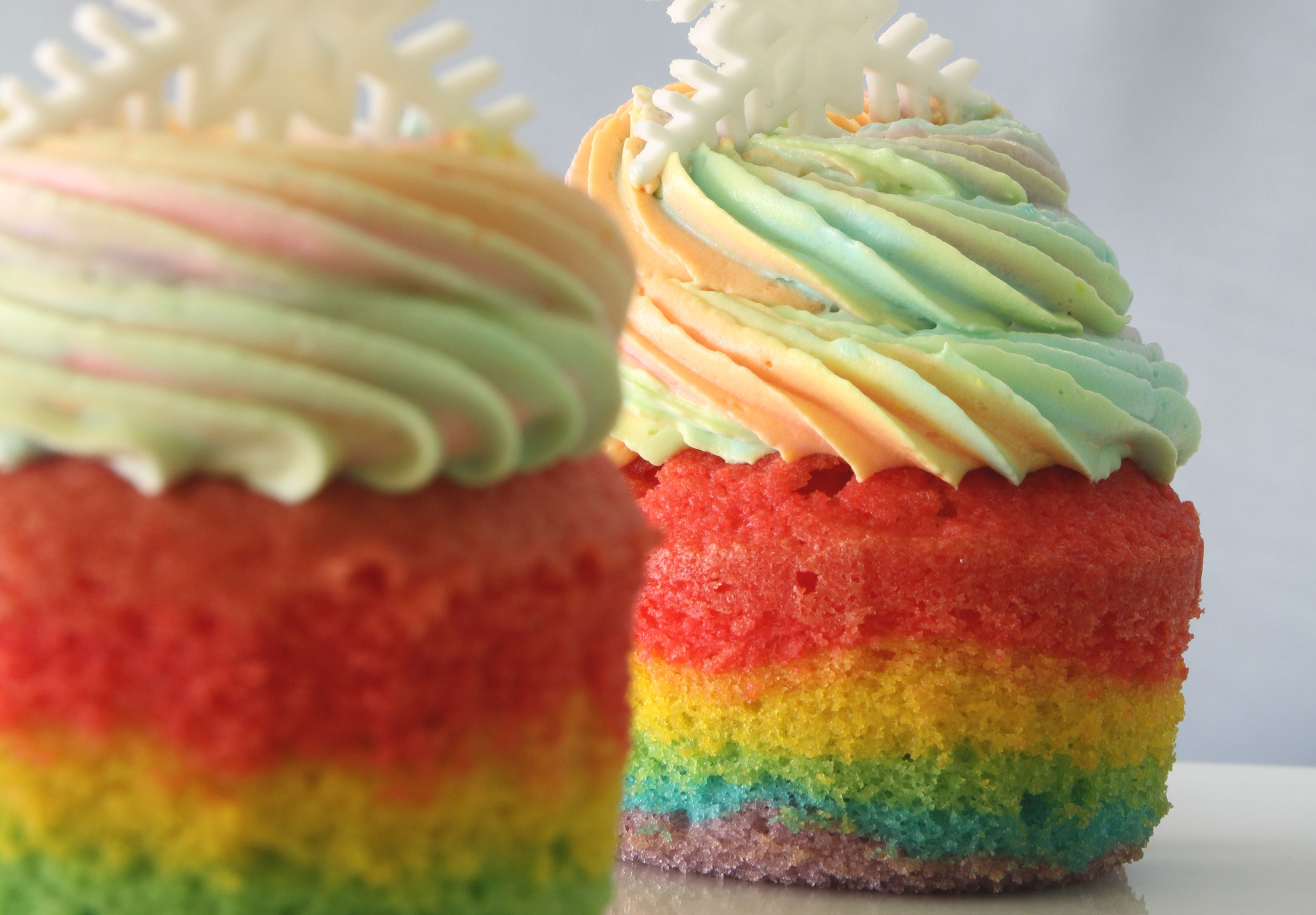 rainbow cupcakes add colors to your day kuali