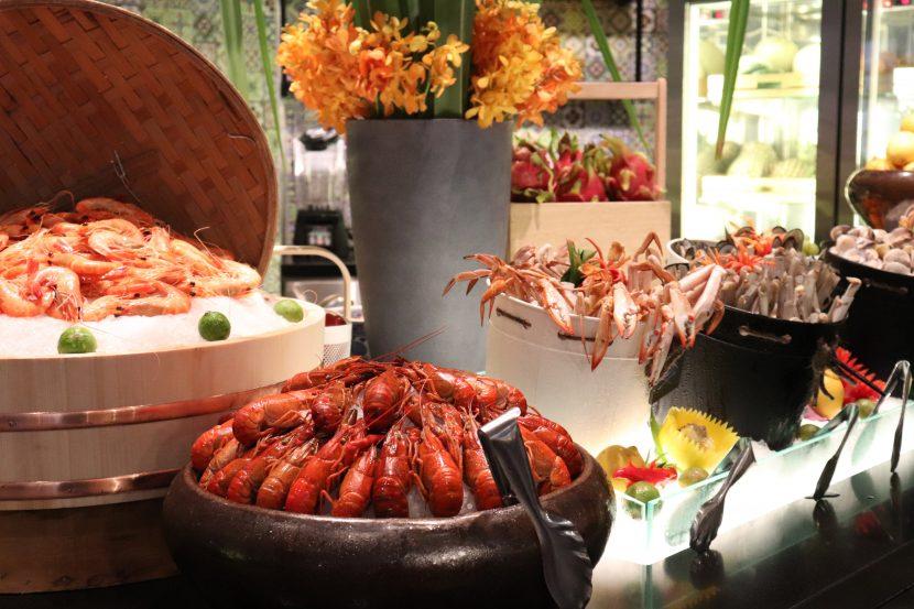 Fresh seafood counter