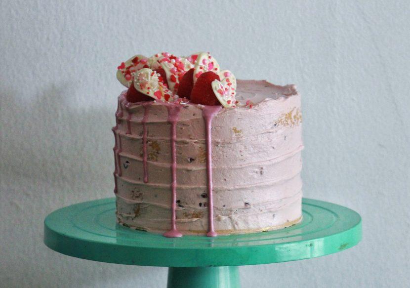 White Chocolate Mudcake with Raspberries