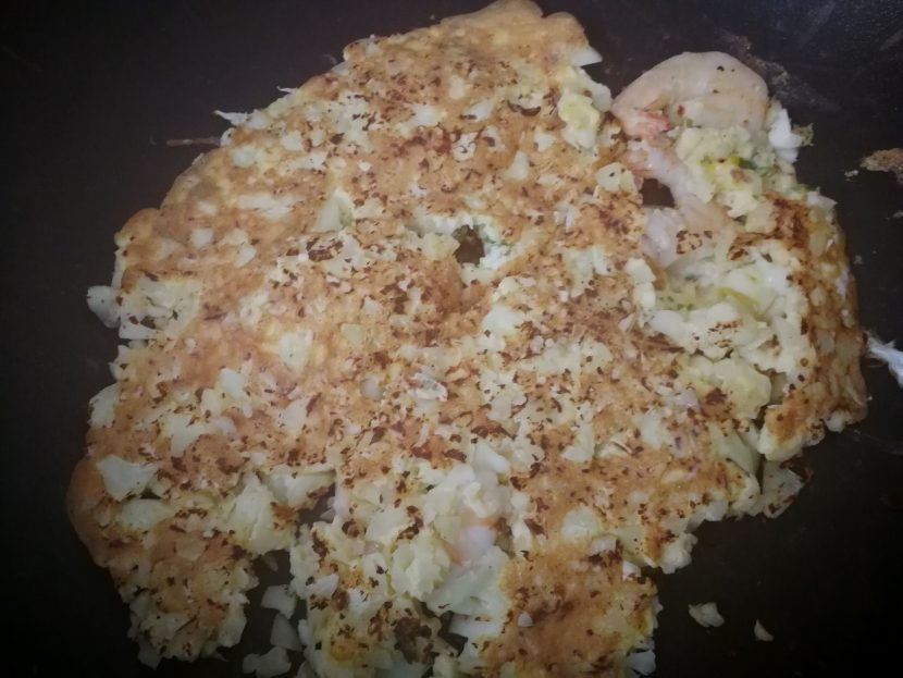 cauliflower omelette